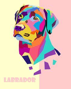 Labrador Portrait Digital Art
