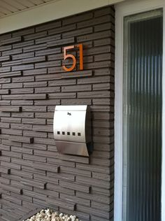 Hillman Distinctions Installing modern house numbers For the