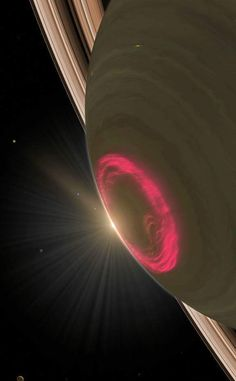 Saturn's south pole auroras put on a dazzling display of light via Paul Gabrielsen (NASA/GSFC)