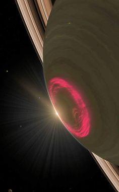 Saturn's south pole auroras put on a dazzling display of light  via Paul Gabrielsen (NASA/GSFC)