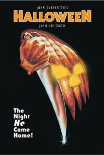 """Released in 1978 (franchise consisting of 10 movies). You can't have a scary movie collection without John Carpenter's Halloween and the """"scream queen"""" Jamie Lee Curtis. These movies are so predictable and follow every cliche that ever existed, however a classic is a classic and if they keep making them, I will keep watching them!"""
