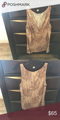 Haute Hippie Snake Skin Silk Tank 100% silk, scoop neck tank. Worn once. Originally $225 Haute Hippie Tops Blouses
