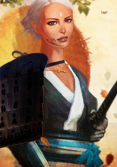 Samurai Den II by on deviantART . Female Character Design, Character Concept, Concept Art, Fantasy Art Women, Fantasy Girl, Fantasy Characters, Female Characters, Samurai, Ninja Art