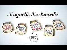 DIY Mason Jar Magnetic Paper Bookmarks - YouTube