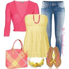 Everything but the purse, cardi and the necklace.. so basically just da flops, da tops and da jeans : D