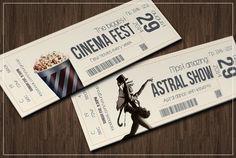 Multipurpose retro ticket V.2 by Tzochko on @creativemarket
