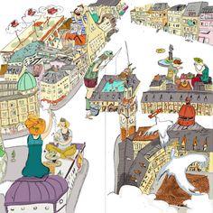 La ressourcerie à Lille – Lucie Massart Illustrations, Bar, Creations, Drawings, Drink Menu, Radiation Exposure, Cards, Illustration, Sketches