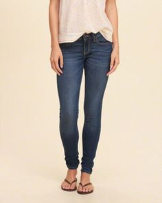 1f02072713b Hollister Low-Rise Super Skinny Jeans Girl Bottoms