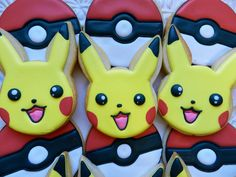 The cutest Pikachu and Pokeball cookies by Anne of Flour Box Bakery