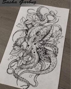 Female Octopus Tattoo Seabed Drawing Octopus Seabed Source by Inspirational Tattoos, Body Art Tattoos, Mermaid Tattoo, Tattoo Drawings, Octopus Tattoo, Kraken Tattoo, Octopus Tattoos, Best Tattoo Designs, Octopus Tattoo Design