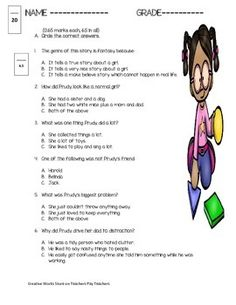 This preparation by Creative Works is based on the story - Prudy's Problem and How She Solved It ( by Carey Armstrong-Ellis). You can find the story in the Reading Street 3rd grade book. It has the following -1. 10 multiple choice questions2. 6 vocabulary questions3. 4 short and long answer questions4. 5 true and false questions5. 6 sequence of events questionsThis preparation meets the requirements of the Common Core Standards and has various components of Blooms Taxonomy.