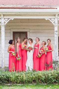 A Spectrum of Gorgeously Pink Wedding Ideas - bridesmaid dresses; David Pascolla Photography