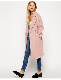 ASOS Cocoon Coat - Blue