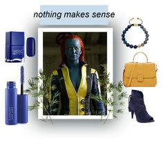 """""""BLUE"""" by yu-n-me ❤ liked on Polyvore featuring Mystique, Pier 1 Imports, Vince Camuto and MAC Cosmetics"""