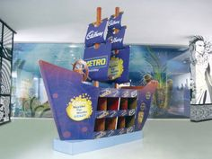 Ship Display by naishadh jhaveri, via Behance Pallet Display, Pos Display, Display Design, Product Display, Point Of Purchase, Point Of Sale, Pepsi, Pos Design, Boats