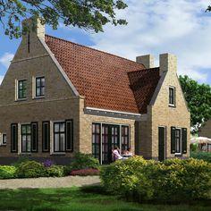 Henk van de Giessen Illustration & Design » Henk van de Giessen Illustration & Design Residential Architecture, Simple House, Exterior Design, Beautiful Homes, New Homes, Cottage, House Design, House Styles, Building