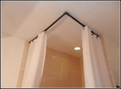 Shower Curtain Rods That Hang From Ceiling