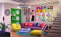 Pop art interior by Ultrarender.deviantart.com on @deviantART