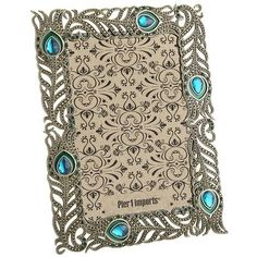 Watch the object of your affection become the center of attention after you place a 4x6 photo in this antiqued gold peacock frame. Made of filigreed metal accented with faux crystals and colored enamel. Simply insert picture and let the preening begin.