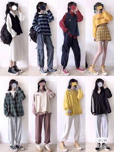 Korean Girl Fashion, Korean Fashion Trends, Korean Street Fashion, Ulzzang Fashion, Korea Fashion, Cute Fashion, Asian Fashion, Boho Fashion, Frock Fashion