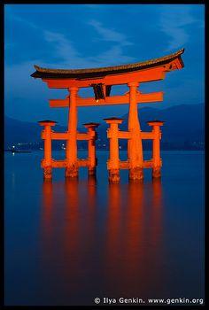 O-Torii (Grand Gate) at Dusk, Itsukushima Shrine, Miyajima, Honshu, Japan by Ilya Genkin / genkin.org, via Flickr