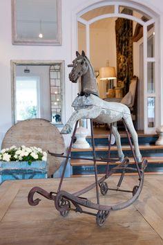 Antique rocking horse by hester Antique Rocking Horse, Vintage Horse, Rocking Horses, Antique Toys, Vintage Antiques, Antique Metal, Rare Antique, Le Logis, Antique Interior