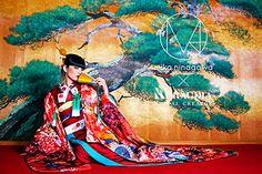"""蜷川実花が手掛ける「M / mika iagawa」のウエディングコレクションに、待望の""""和装dquoが登場。2015年のデビュー以来、蜷川独自の色彩感覚をいかしたカラフルなドレスが世に送り出されてき..."""