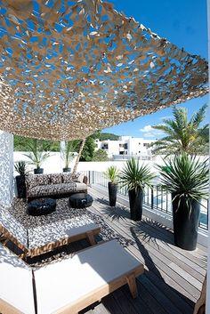 Pergola For Small Backyard Patio Shade, Pergola Shade, Shade Garden, Rooftop Patio, Patio Roof, Backyard Patio, Terrace Design, Patio Design, Pergola Designs