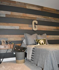 Teenage boy room - Teenage Boys Room One Room Challenge Reveal Teenage Room, Teenage Boy Bedrooms, Ideas For Boys Bedrooms, Big Boy Rooms, Boys Room Paint Ideas, Girl Bedrooms, Gray Boys Rooms, Boys Bedroom Ideas Tween Wall Colors, Boys Bed Room Ideas
