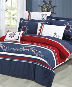 Anchors Away Bedding Set. Love this one for our bed too.