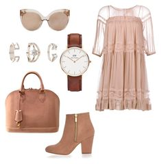 """""""Untitled #296"""" by dr-azzko ❤ liked on Polyvore featuring N°21, Linda Farrow, River Island, Louis Vuitton, Daniel Wellington and Topshop"""