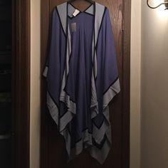 NWT-Multi-blue wrap Loulou De las Falaise multi Blue wrap. Never used. Loulou de la Falaise Accessories Scarves & Wraps