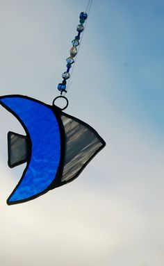 Stained Glass Suncatcher Wind Spinner Fish in by DianeMarieArt, $12.00