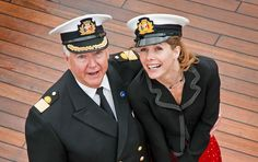 Commodore Steve Burgoine with Darcey Bussell at the #GrandEvent  www.firstmarine.es