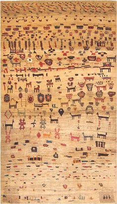 Antique Gabbeh Persian Rug