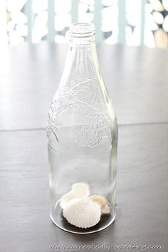 blog site explaining how she cut the bottom off a wine bottle
