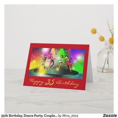 Shop Birthday, Dance Party, Couples Dancing Card created by Personalize it with photos & text or purchase as is! Happy 30th Birthday Wishes, 40th Birthday, Birthday Gifts, Restaurants For Birthdays, Dance Party Birthday, Personalized Birthday Cards, Custom Greeting Cards, Cool Cards, Dancing