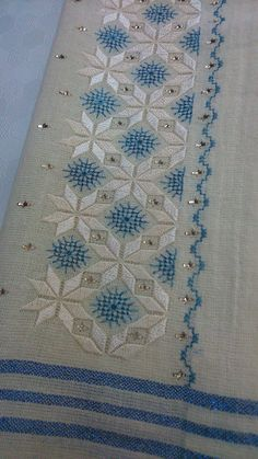 This Pin was discovered by Sed Hardanger Embroidery, Embroidery Stitches, Embroidery Patterns, Hand Embroidery, Needlepoint Stitches, Needlework, Cross Stitch Designs, Cross Stitch Patterns, Broderie Bargello