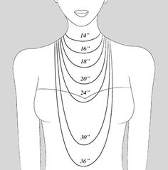 necklace lengths chart: Necklace size length guide in both cm and inch good to know when