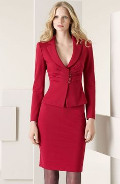 Armani Collezioni 'Milano' Jersey Jacket available at Elegant Fashion Wear, Elegant Outfit, Classy Outfits, Cool Outfits, Office Outfits For Ladies, Looks Kate Middleton, Lace Dress Styles, Rajputi Dress, African Print Fashion