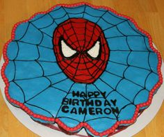 Birthday, Spiderman Cupcake Cake- Just pull apart the cupcakes for single serving. :)