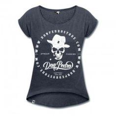 Cooles Damen Shirt von DonPedro im bequemen Boyfriend Style mit Totenkopf Print.