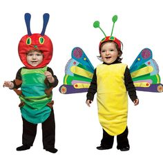 The Very Hungry Caterpillar costumes for twins!