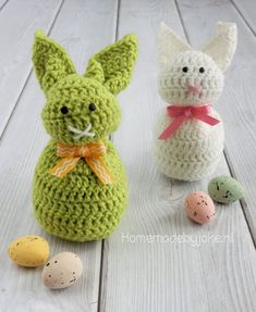 Bunny crocheted from