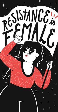 Resistance Is Female Art Print by Camila Rosa - X-Small Feminist Af, Feminist Quotes, Feminist Apparel, Mon Combat, Life Quotes Love, Wisdom Quotes, True Quotes, Libra Quotes, Quotes Quotes