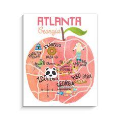 Life in Atlanta Art Print
