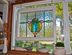 Old English cottage stained glass - P1060233 by Lance & Cromwell (home safe-pictures coming), via Flickr Antique Stained Glass Windows, Hanging Stained Glass, Stained Glass Door, Stained Glass Designs, Stained Glass Panels, Stained Glass Projects, Leaded Glass, Window Glass, Antique Glass