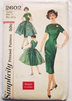 Simplicity 2602 1950's dress