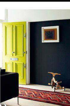 Yellow front door! Elle Decoration, July 2013.