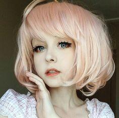 anzujaamu❤❤ She is cuteeeeeeeeeeeeeeeeeeeeeeeee Anime Makeup, Kawaii Makeup, Pastel Goth Fashion, Kawaii Fashion, Pelo Emo, Lolita Hair, Kawaii Cosplay, Cosplay Makeup, Kawaii Girl